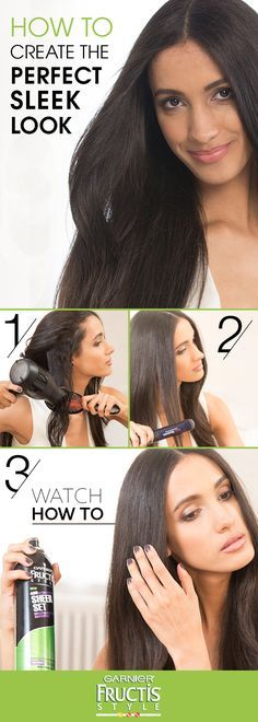 Beat frizz with this easy step-by-step tutorial from celebrity hairstylist Tommy Buckett. In this how-to, he'll show you the 4 easy steps for creating the perfect sleek hairstyle that will last up to 48-hours, with Fructis Sheer Set Hairspray.