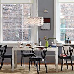 Parsons Rectangular Dining Table - White