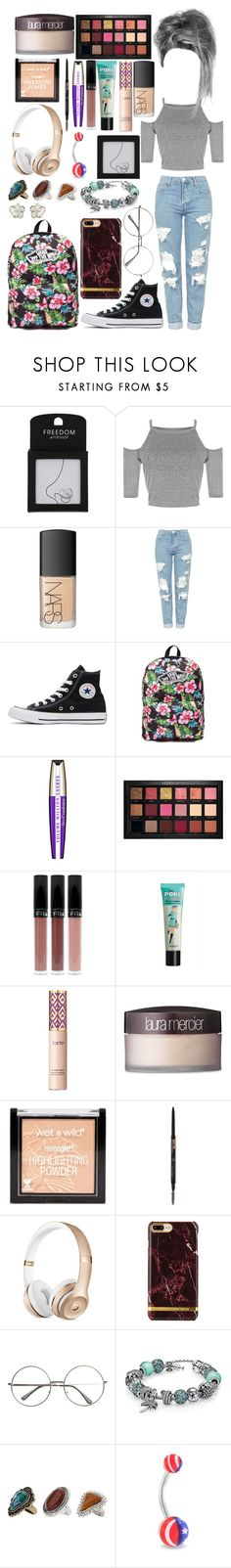 """""""Untitled #953"""" by brunette-biatch ❤ liked on Polyvore featuring Topshop, NARS Cosmetics, Converse, Vans, L'Oréal Paris, Huda Beauty, tarte, Laura Mercier, Anastasia Beverly Hills and Bling Jewelry"""