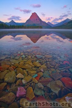 Two Medicine Lake and Sinopah Mountain in Glacier NP, Montana