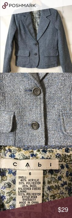 🎉price drop🎉 CAbi wool jacket Wool lined blazer in good condition CAbi Jackets & Coats Blazers