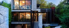 """Measured Architecture's """"Cloister House"""" in vancouver was made using over The…"""