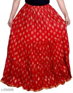 Ethnic Bottomwear - Skirts Stylish Cotton Women's Long Skirt Fabric: Cotton Waist Size: Up To 26 in To 40 in ( Free Size) Length: Up To 39 To 40 in Type: Stitched Description: It Has 1 Piece Of Women's Long Skirt Work: Printed  Country of Origin: India Sizes Available: Free Size, 26, 28, 30, 32, 34, 36, 38, 40   Catalog Rating: ★4 (1814)  Catalog Name: Ladies Cotton Printed Long Skirts Vol 15 CatalogID_99049 C74-SC1013 Code: 913-854846-657