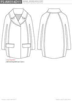 Coat flat sketch