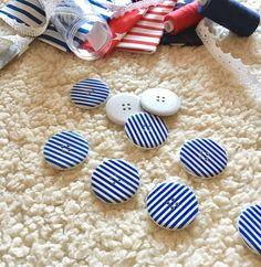 Items similar to 6 huge navy blue buttons, nautical button, stripes button, blue nautical button, navy blue nautical button on Etsy Blue Stripes, Navy Blue, My Heart Is Breaking, Craft Supplies, Nautical, My Etsy Shop, Buttons, Crafts, Manualidades