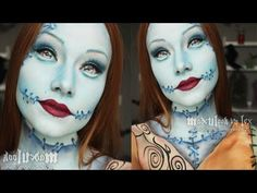 Sally (Nightmare Before Christmas Inspired) Makeup Tutorial (+playlist) The best sally makeup I've ever seen!!!! This girl is soooo talented :)
