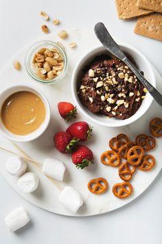 Peanut Butter Chocolate Hummus | picklesnhoney.com
