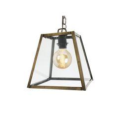 Lampe jern/glass 25 CM - Lama AS