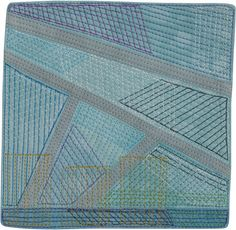 Skyscrapers – Day 7 2016 ©Lisa Call 6 x 6 inches fabric, thread, dye on stretched canvas $100 NZD