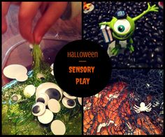 3 Halloween Sensory Bins an article by Mommy Unversity at www.mommyuniversitynj.com Sensory Activities Toddlers, Sensory Bins, Sensory Play, Diy Halloween Costumes, Halloween Decorations, Halloween Party, Family Halloween, Happy Halloween, Pumpkin Carving Templates