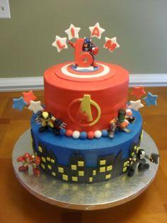 Birthday Cake Avengers Cake