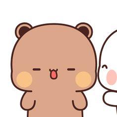Cute Cartoon Pictures, Cute Love Pictures, Panda Gif, Bear Gif, Cute Bear Drawings, Chibi Cat, Kawaii Illustration, Cute Love Gif, Little Panda