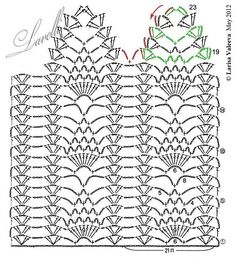 Crochet Curtain Patterns Part 3 - Beautiful Crochet Patterns And Knitting Patterns - Diy Crafts Motif Bikini Crochet, Crochet Curtain Pattern, Crochet Lace Edging, Crochet Curtains, Curtain Patterns, Crochet Borders, Crochet Diagram, Crochet Stitches Patterns, Doily Patterns