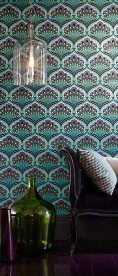 Papier peint Art Nouveau. http://www.m-habitat.fr/murs-facades/revetements-muraux/le-papier-peint-vinyle-1152_A