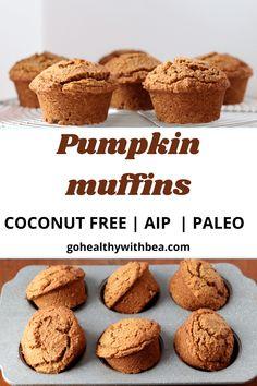 Paleo Pumpkin Muffins, Gluten Free Muffins, Gluten Free Pumpkin, Vegan Pumpkin, Pumpkin Recipes, Paleo Recipes, Gingerbread Muffins Recipe, Pumpkin Puree, Muffin Recipes