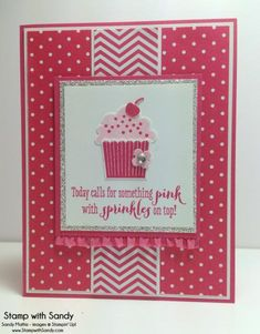 Create a Cupcake for The Paper Players by stampwithsandy - Cards and Paper Crafts at Splitcoaststampers