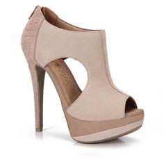 Summer Boots Feminina Ramarim 12-48205 Bege ❤ liked on Polyvore