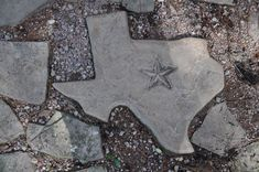 I love living in Texas and love Rustic Texas decor.  Check out my garden stepping stone!