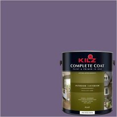 Kilz Complete Coat Interior/Exterior Paint & Primer in One, #RA130-02 Regal Purple