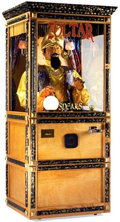 $650; Zoltar Fortune Teller machine; available for rental