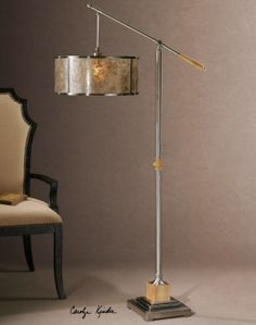 Uttermost Sitka Silver Floor Lamp