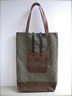 BATE-022 1950s era water proof fabric Tote Bag