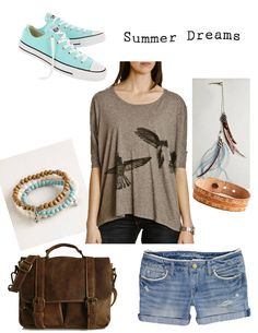 dream summer outfit, neutrals with subtle but popping hints of colour that compliment themselves