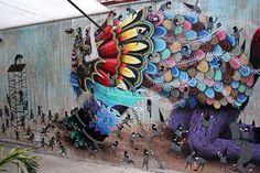 Beautiful urban art by Mexican street artist El Curiot