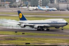 Lufthansa Boeing 747-830 landing at Mexico City (MEX) from Frankfurt (FRA)