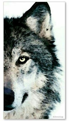 Wolf Art Print Painting Wolves Timber Woods Gray Brown Animals Nature Wildlife…