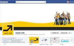 facebook mach mit fanpage, concept, design, editing