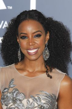 """Party 'dos for curly hair — for New Years' Eve and beyond! """"If you're sporting a head of full, super-tight curls like Kelly Rowland, this look will show off your beautiful texture while still looking """"done."""" """""""