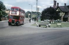 Vintage London, Old London, Enfield Middlesex, Rt Bus, Enfield Town, London Metropolitan, East End London, Double Decker Bus, Police Box