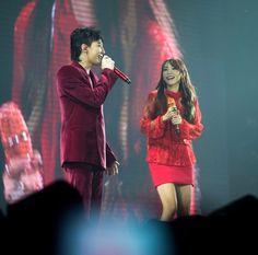 Gd and sandara Daesung, Bigbang, Sandara Park, Choi Seung Hyun, Red Suit, Jiyong, 2ne1, Press Photo, My Crush