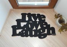 "Doormat ""Live love laugh"""