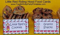 Free Little Red Riding Hood Clipart Image Pictures Cartoons by Free Birthday Party Printables- Wolf, Granny, Lumberjack, Little Red Riding Hood, Mushroom