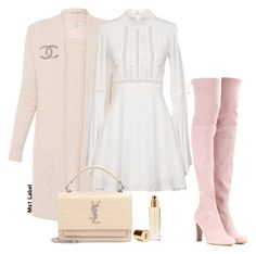 """Cute"" by ms1-ltu on Polyvore featuring For Love & Lemons, Stuart Weitzman, Yves Saint Laurent and Chanel"