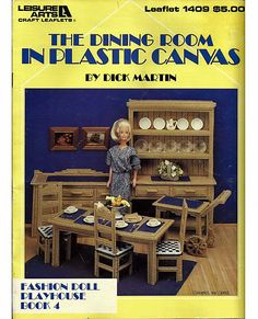 Barbie Pattern The Dining Room in Plastic Canvas Leisure Arts Leaflet 1409. $11.00, via Etsy.