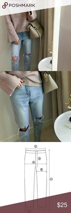 Light blue jeans Light blue jeans. Approx size measure: 1. 90cm, 2. 34cm, 3. 29cm, 4. 43cm, 5. 25cm, 6. 14cm. Jeans