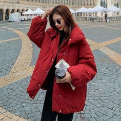 Han edition short down jacket to film new winter fashion female bread served with thick cotton-padded clothes coat jackets Cotton Pads, Winter Fashion, Raincoat, Bread, Clothes For Women, Female, Film, Jackets, Winter Fashion Looks