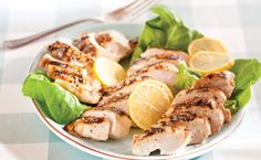 healthy fast meals - Grilled Montreal Chicken Breasts with Le Taj Finishing Sauce Quick Dinner Recipes, Side Dish Recipes, Lunch Recipes, Summer Recipes, Healthy Recipes, Healthy Foods, Chicken Rub, Sauce For Chicken, Chicken Breasts