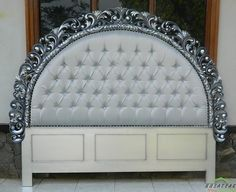 #Rococo #Mahogany #Bed in Antique Silver Finish Arjumei by #NusaTeak  PIN: 7658A033 Call WA: 6281908021000 Inquiry: info@nusateak.com Site: NusaTeak.com  #Mebel #Furniture #Meuble #Home #Decor #Interior #MahoganyBed #HomeDecor #BedRoom #HomeInterior #RococoBed #Carvings #FurnitureDesign #InteriorDesign #Design #Indonesia #Etsy