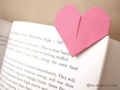 Paper heart page marker @ bloomize.com