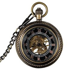 Mudder® Brass Magnifying Skeleton Mechanical Men's Pocket Watch Roman Numerals Dial Mudder http://www.amazon.com/dp/B00KWWGNMK/ref=cm_sw_r_pi_dp_2AwNub1DW38ZS