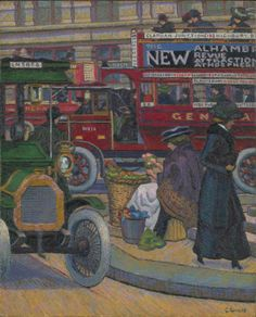 Piccadilly Circus, 1912 by Charles Ginner (British 1879-1952)