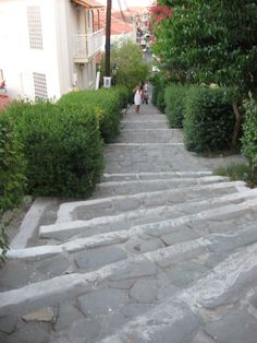 Koroni, Messinia. Greece the stairs in town