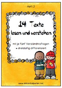 Silbenschrift Texts in syllabary with questions of understanding for the class Kids Education, Special Education, Primary School, Elementary Schools, Early Intervention Program, Learn Another Language, German Grammar, German Language Learning, Learn German