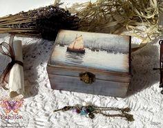 "Декупаж - Сайт любителей декупажа - DCPG.RU | Шкатулка ""Воды Венеции"" Click on photo to see more! Нажмите на фото чтобы увидеть больше! decoupage art craft handmade home decor DIY do it yourself box Materials: rice card acrylic varnish paint etc."