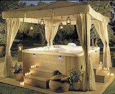 Hot tub. Easy, inexpensive privacy option.