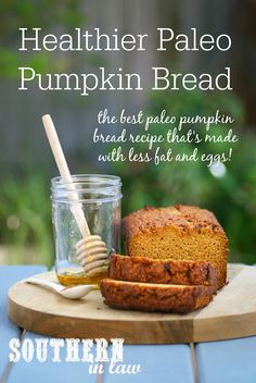 The Best Healthy Paleo Pumpkin Bread Recipe - low fat gluten free grain free low carb sugar free clean eating recipe easy simple paleo Paleo Pumpkin Recipes, Paleo Pumpkin Bread, Pumpkin Banana Bread, Pumpkin Rolls, Keto Recipes, Easy Clean Eating Recipes, Clean Foods, Eating Clean, Sweet Potato Bread